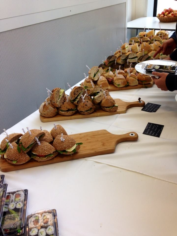 So many sandwiches for lunch. I think this conference had the best food I ever had in a conference.