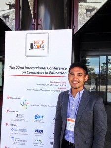 That's me at the ICCE2014 Conference.