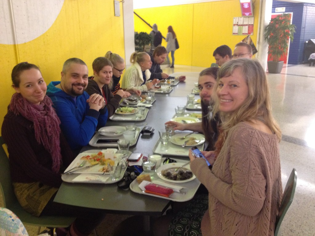 Lunch with Finnish friends(They were very friendly, thank you!)