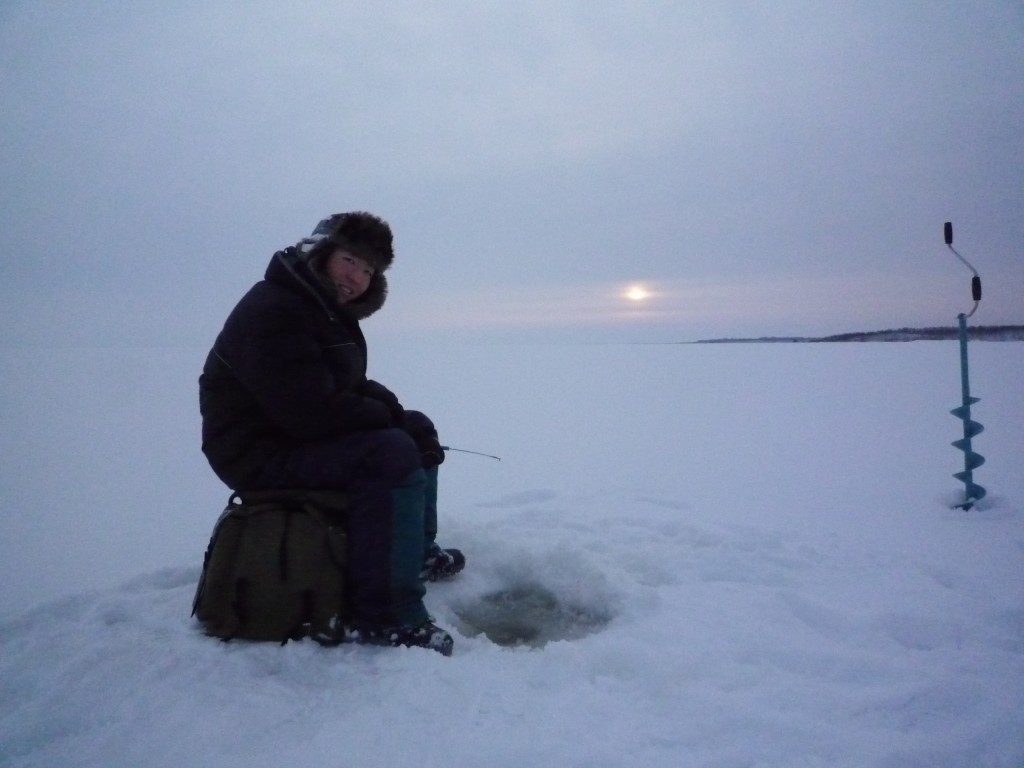 Ice fishing at Hailuoto island(Very very cold)
