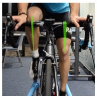 Towards Situated Knee Trajectory Visualization for Self Analysis in Cycling