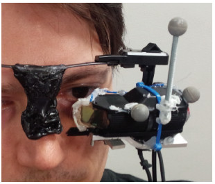 Automated Spatial Calibration of HMD Systems with Unconstrained Eye-cameras