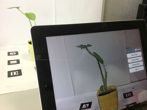 Support of Temporal Change Observation Using Augmented Reality for Learning